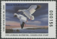 Scan of 1999 Louisiana Duck Stamp Non Resident