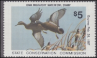 Scan of 1986 Iowa Duck Stamp