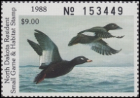Scan of 1988 North Dakota Duck Stamp