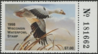 Scan of 1998 Wisconsin Duck Stamp