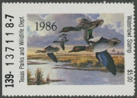 Scan of 1986 Texas Duck Stamp