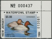 Scan of 1984 New Jersey Duck Stamp