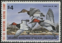 Scan of 1987 Oklahoma Duck Stamp