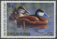 Scan of 1995 Oklahoma Duck Stamp