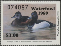 Scan of 1989 Missouri Duck Stamp