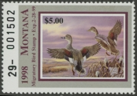 Scan of 1998 Montana Duck Stamp