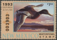 Scan of 1993 New Mexico Duck Stamp