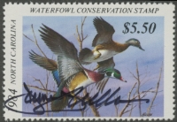Scan of 1984 North Carolina Duck Stamp SBA