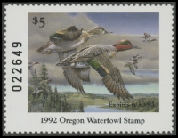 Scan of 1991 Oregon Duck Stamp