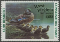 Scan of 1988 West Virginia Duck Stamp Resident