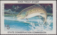Scan of 1978 Iowa Trout Stamp