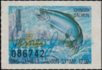Scan of 1983 Illinois Salmon Stamp