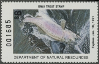 Scan of 1990 Iowa Trout Stamp