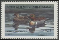Scan of 1984 Ohio Duck Stamp