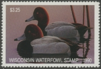 Scan of 1990 Wisconsin Duck Stamp