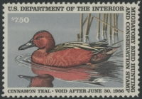 Scan of RW52 1985 Duck Stamp Grade 98