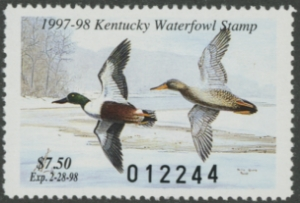 Scan of 1997 Kentucky Duck Stamp