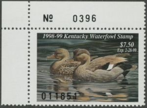 Scan of 1998 Kentucky Duck Stamp