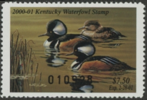 Scan of 2000 Kentucky Duck Stamp