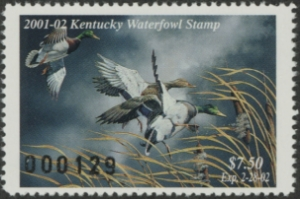 Scan of 2001 Kentucky Duck Stamp
