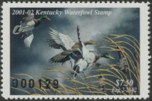 Scan of 2001 Kentucky Duck Stamp  MNH VF