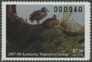 Scan of 2007 Kentucky Duck Stamp