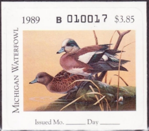 Scan of 1989 Michigan Duck Stamp
