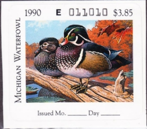 Scan of 1990 Michigan Duck Stamp