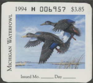 Scan of 1994 Michigan Duck Stamp