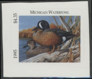 Scan of 1995 Michigan Duck Stamp