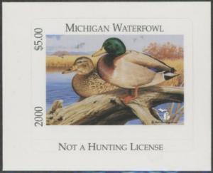 Scan of 2000 Michigan Duck Stamp MNH VF