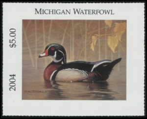 Scan of 2004 Michigan Duck Stamp