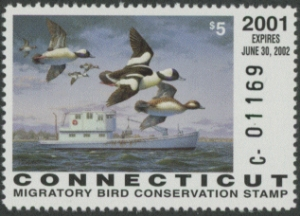 Scan of 2001 Connecticut Duck Stamp