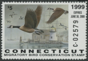 Scan of 1999 Connecticut Duck Stamp