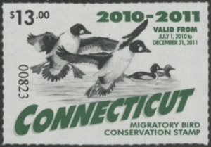 Scan of 2010 Connecticut Duck Stamp