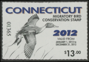 Scan of 2012 Connecticut Duck Stamp