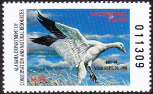 Scan of 1997 Alabama Duck Stamp
