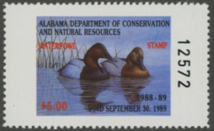 Scan of 1988 Alabama Duck Stamp