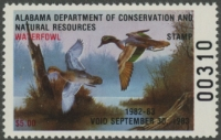 Scan of 1982 Alabama Duck Stamp