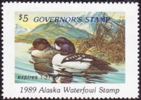 Scan of 1989 Alaska Duck Stamp Governor's Edition