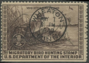 Scan of RW6 1939 Duck Stamp