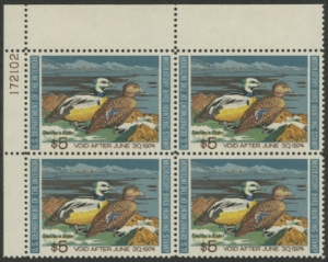 Scan of RW40 1973 Duck Stamp TL PB