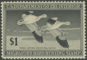 Scan of RW14 1947 Duck Stamp