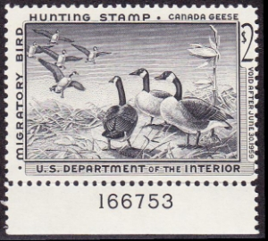 Scan of RW25 1958 Duck Stamp