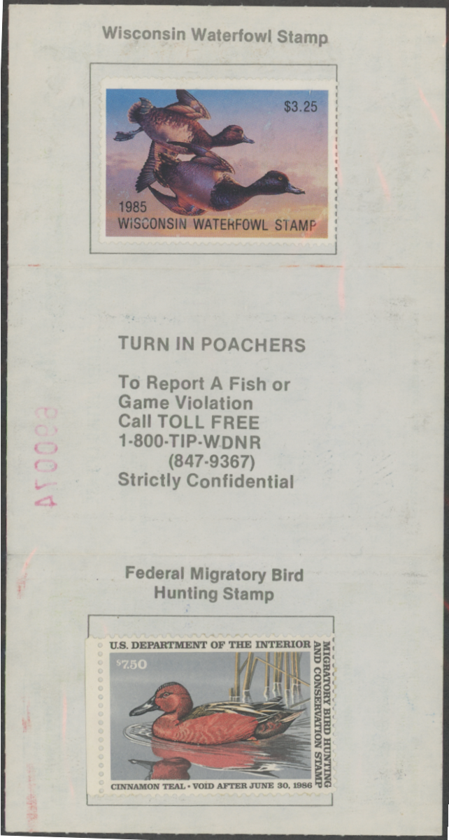 Scan of RW52 1985 Duck Stamp