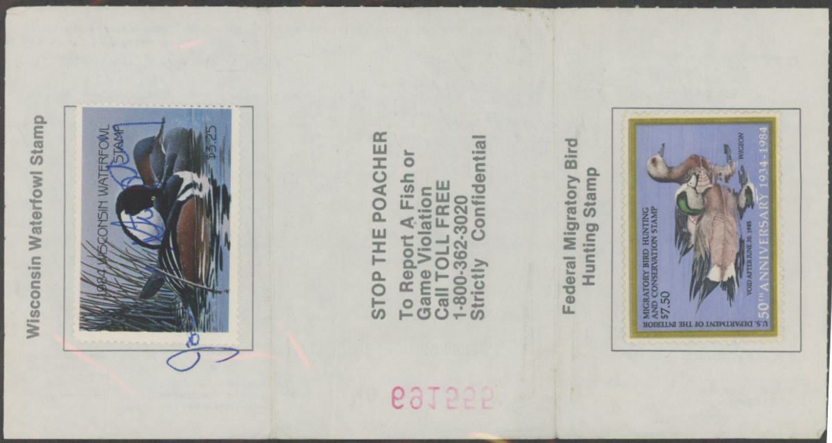 Scan of RW51 1984 Duck Stamp