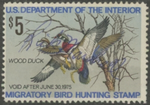 Scan of RW41 1974 Duck Stamp  Used F-VF