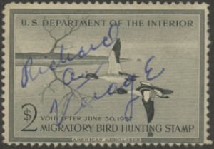 Scan of RW23 1956 Duck Stamp