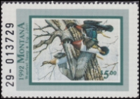Scan of 1992 Montana Duck Stamp