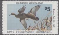 Scan of 1986 Iowa Duck Stamp MNH VF